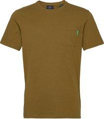 fabric dyed pocket tee t-shirts short-sleeved grön scotch & soda
