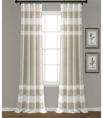 "cape cod stripe 40"" x 84"" curtain set"