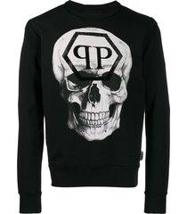 philipp plein statement sweatshirt - black