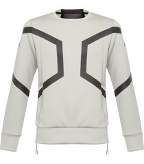 asics ash grey hexagon crew top 146392