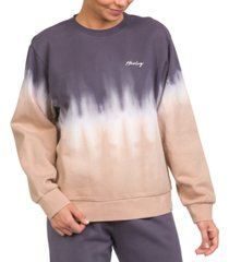 hurley dip-dyed gf crewneck fleece sweatshirt