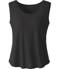 bourette-zijden top met brede bandjes, zwart 34