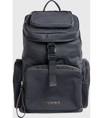 mochila th nylon backpack  negro tommy hilfiger