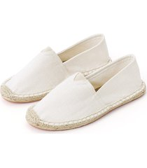 white fashion plain design flats