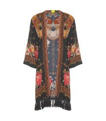 kimono flores do serrado - preto