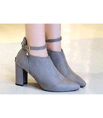 pb158 elegant strappy ankle booties w zipper back,  size 4-9, gray