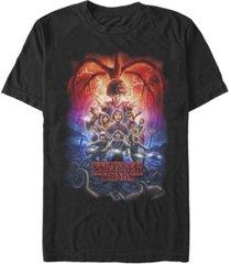 fifth sun men's stranger things demogorgan group poster short sleeve t-shirt