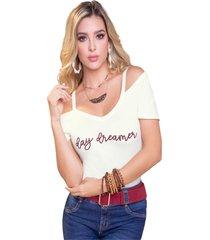 camiseta adulto femenino marfil marketing  personal