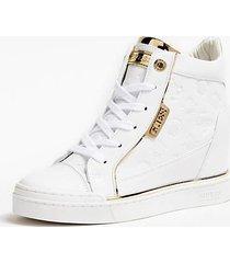 Alla Moda Sneakers Guess Zeppa Freda Bianco Donna Scontato :