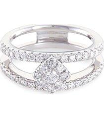 'art deco' diamond 18k white gold ring