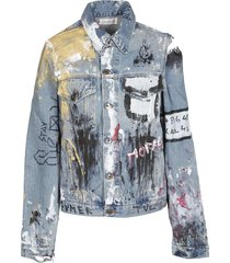 faith connexion vandalized denim jacket