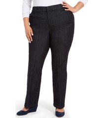 charter club plus size midnight trouser jeans, created for macy's