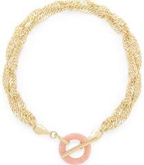 brook & york 14k gold plated maggie toggle bracelet