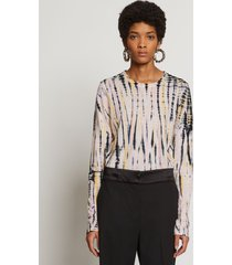 proenza schouler tie dye long sleeve t-shirt nude/pink/black/white m
