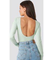 na-kd basic deep back body - green
