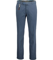 meyer chino palermo - slim fit - blauw