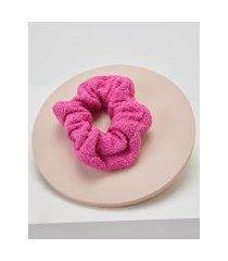 amaro feminino scrunchie atoalhado, pink