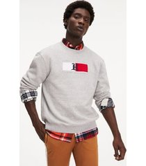 tommy hilfiger men's lewis hamilton relaxed fit sweatshirt cloud heather - xs