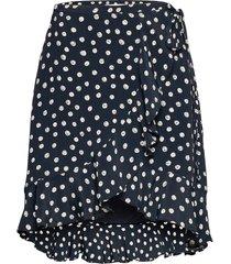 limon s wrap skirt aop 10867 kort kjol blå samsøe samsøe