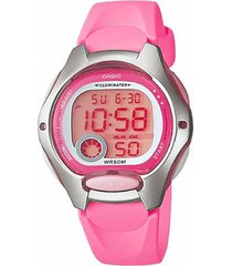 reloj digital rosado casio