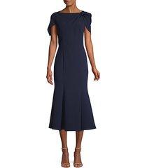 bess caped-sleeve dress
