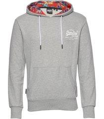 super 5's hood ub hoodie trui grijs superdry