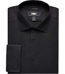 joseph abboud black french cuff formal dress shirt