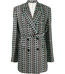christian wijnants all-over print jacket - blue