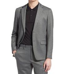men's theory clinton ponte sport coat, size 46 - black