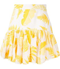 acler wray ruffled skirt - yellow