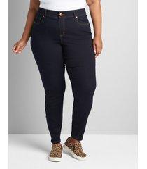 lane bryant women's curvy fit high-rise skinny jean- dark wash 18p dark denim
