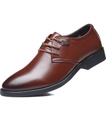 zapatos planos oxford de cuero para hombre zapatos de boda