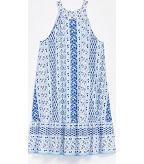 loft paisley tiered halter swing dress