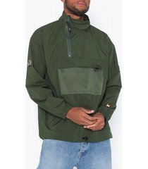 wood wood lenny track jacket jackor dark green