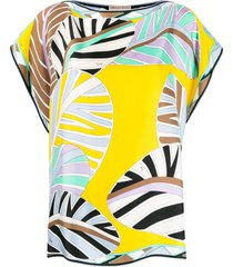 emilio pucci sal print beach top - yellow
