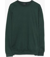 womens where there's a chill oversized plus sweatshirt - green