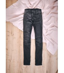 jeans biker in cotone con cinta comoda (nero) - bpc bonprix collection