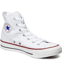 all star hi red höga sneakers vit converse