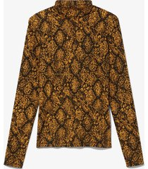proenza schouler white label snake print turtleneck top /yellow l