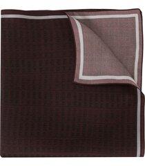 ermenegildo zegna numeric print scarf - purple