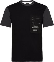 armani exchange jumper t-shirts short-sleeved svart armani exchange