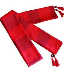 bufanda lana edimburgo rojo viva felicia