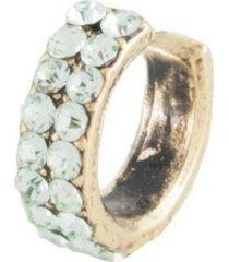 brinco armazem rr bijoux piercing cristal verde dourado