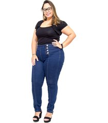 calça jeans cambos plus size skinny nagilla azul - kanui