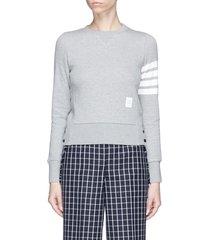stripe sleeve cotton sweatshirt