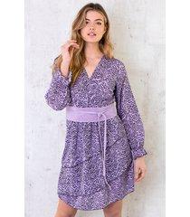 jurk met zebraprint lila