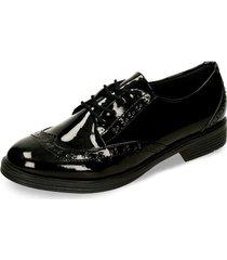 zapatos oxford negro bata zilto r mujer
