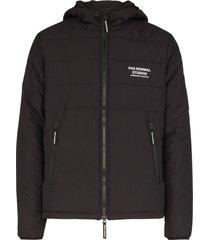 pas normal studios off-race hooded thermal jacket - black