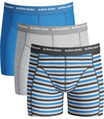 bjorn borg short 3pak basic stripe phantom