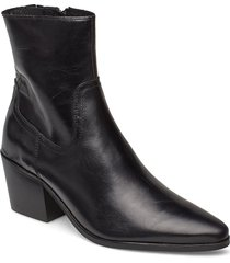 stb-georgia l shoes boots ankle boots ankle boot - heel svart shoe the bear